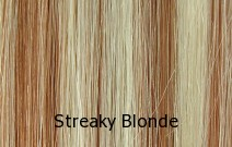 Levels 10 & 8, Lightest Blonde & Strawberry Red Blonde Streaks