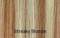 Levels 10 & 8, Lightest Blonde & Strawberry Red Blonde Streaks